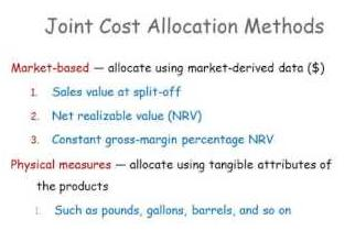 methods of allocating joint costs to products | Joint Cost Allocation Methods In Petroleum Industries