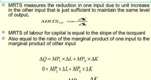 marginal rate of technical substitution, elasticity of substitution