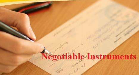 Two Main Types Of Negotiable Instruments