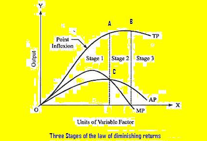 importance of law of diminishing returns | law of increasing returns